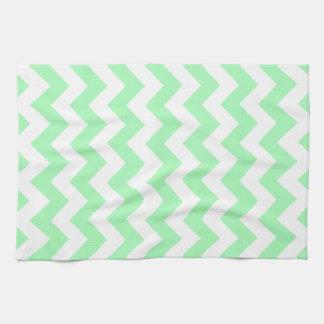 Mint Green Chevron Tea Towel