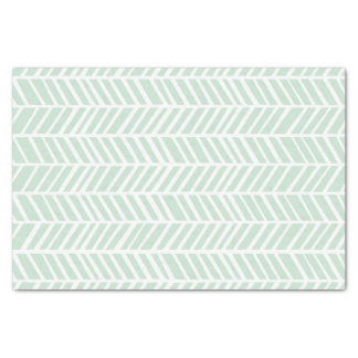 Mint Green Chevron Tissue Paper