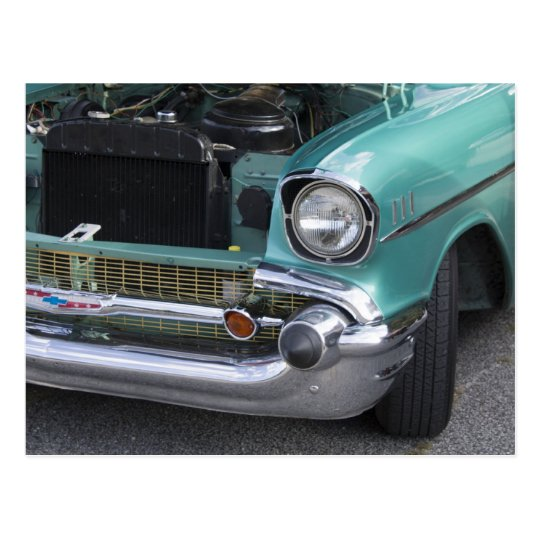 Mint Green Chevy Postcard