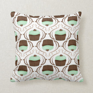 Mint Green Chocolate Cupcake Pillow