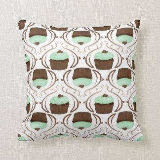 Mint Green Chocolate Cupcake Pillow Cushion