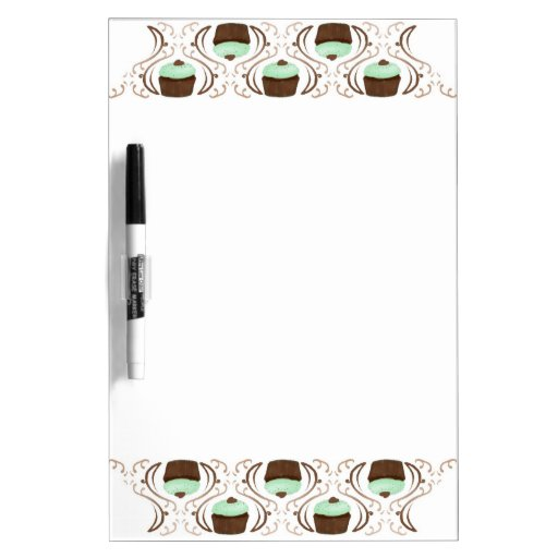 Mint Green Chocolate Cupcakes Dry Erase Boards