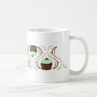 Mint Green Chocolate Cupcakes Coffee Mugs