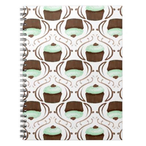 Mint Green Chocolate Cupcakes Note Books