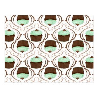 Mint Green Chocolate Cupcakes Postcard