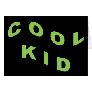 Mint Green Cool Kid Card