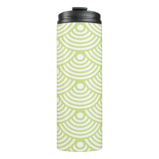 Mint Green Coral Thermal Tumbler