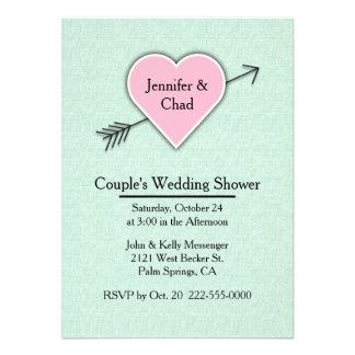 Mint Green Couple's Wedding Shower Invitation