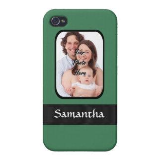 Mint green custom photo template iPhone 4/4S case