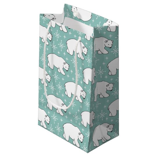 Mint Green Cute Polar Bear Pattern Bag