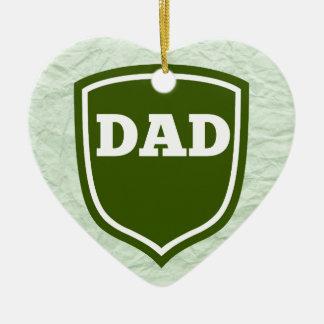 Mint Green Dad  Plaque Ceramic Heart Decoration