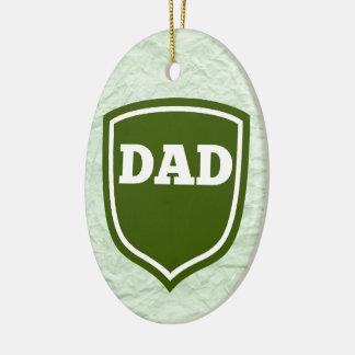 Mint Green Dad  Plaque Christmas Ornament
