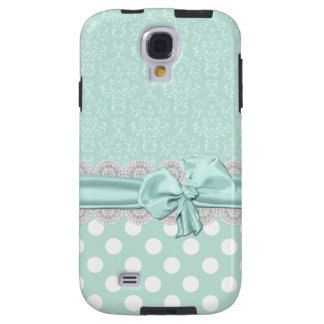 Mint Green Damask Samsung Galaxy S4 Phone Case