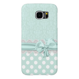 Mint Green Damask Samsung Galaxy S6 Phone Case