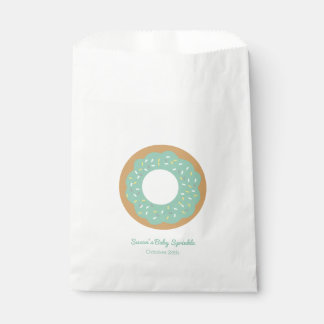 Mint Green Donut Baby Sprinkle Favor Favour Bags