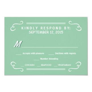 Mint Green Eat Drink & RSVP Rustic Wedding Reply 9 Cm X 13 Cm Invitation Card