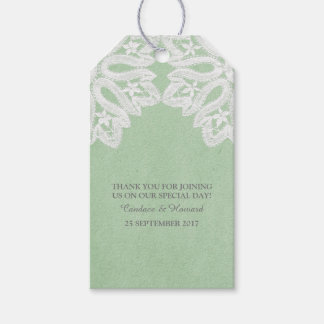Mint Green Elegant Lace Gift Tags