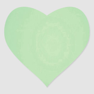 Mint Green Elegant Pattern. Fashion Color Trend Heart Sticker