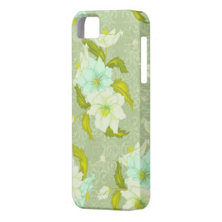 Mint Green Floral iPhone 5 Covers