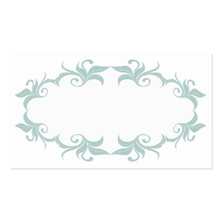 Mint Green Flourish Wedding Place Cards Pack Of Standard Business Cards