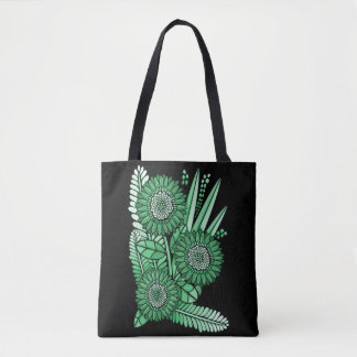 Mint Green Gerbera Daisy Flower Bouquet Tote Bag