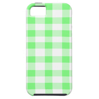 Mint Green Gingham iPhone 5 Cases