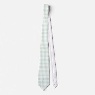 Mint Green Gingham Pattern Ties For Men