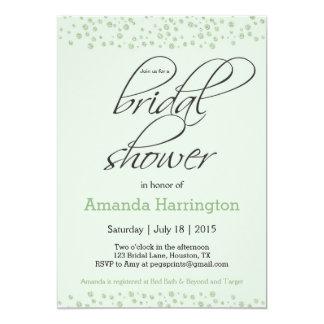 Mint Green Glitter Bridal Shower Invitation