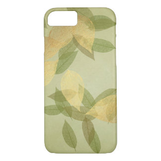 Mint Green Golden Confetti Leafs iPhone Samsung iPhone 8/7 Case