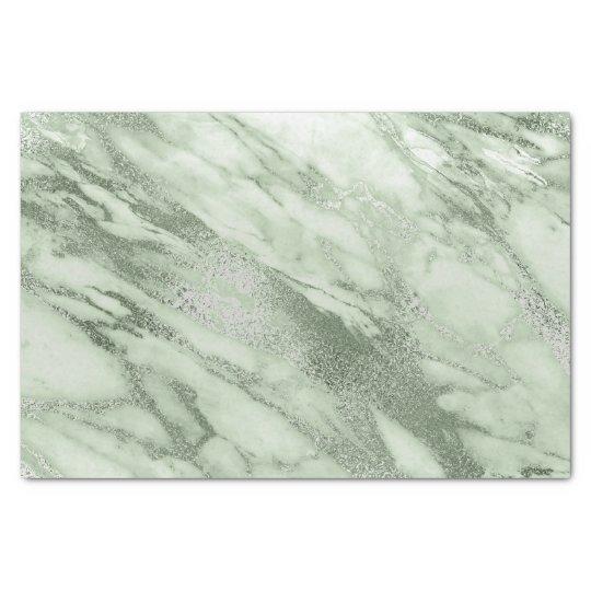 Mint Green Gray Pastel Metallic Marble Stone Lux
