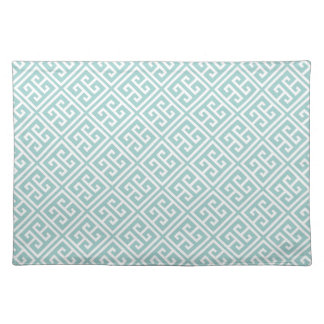 Mint Green Greek Key Pattern Placemat