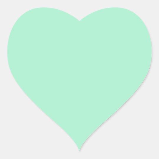 Mint green heart stickers