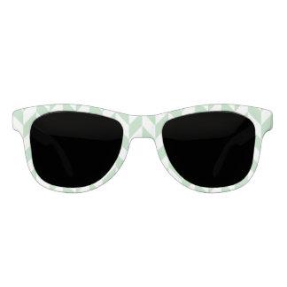 Mint Green Herringbone Pattern Sunglasses