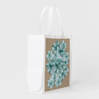 Mint Green Illustrated Flower Floral Pattern
