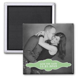 Mint Green La Bon Vie Photo Save the Date Magnet