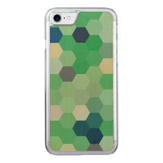 Mint Green Mermaid Fish Scales Tone Octagon Carved iPhone 8/7 Case