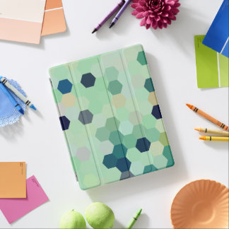 Mint Green Mermaid Fish Scales Tone Octagon iPad Cover