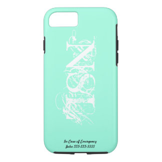 Mint Green Monogram iPhone 7 Case