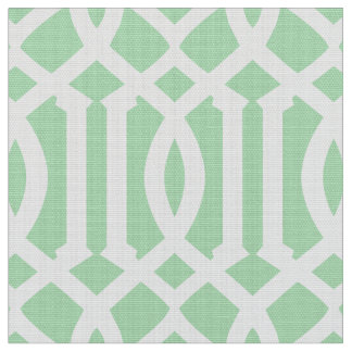Mint Green Moroccan Pattern | Fabric