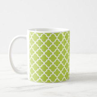 Mint green Moroccan tile geometric chic coffee Basic White Mug