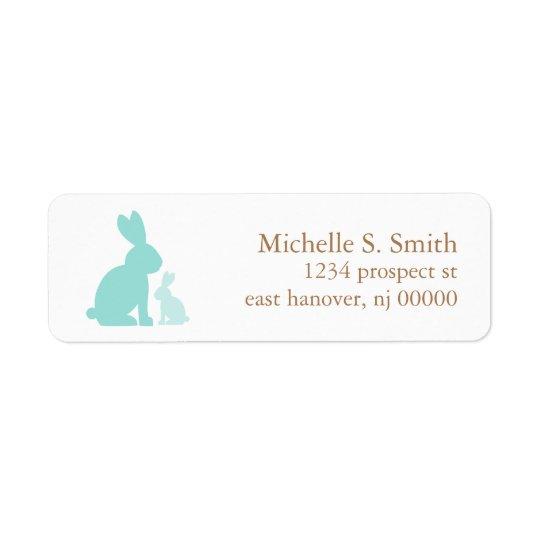 Mint Green Mum and Baby Rabbits