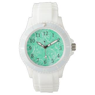 Mint Green Ornamental Watch