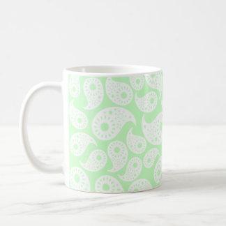 Mint Green Paisley. Coffee Mug