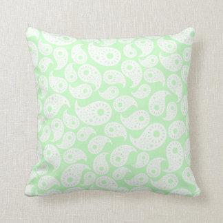 Mint Green Paisley. Cushion