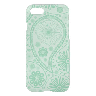 Mint green paisley pattern iPhone 8/7 case