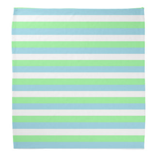 Mint Green, Pastel Blue and White Stripes Do-rag