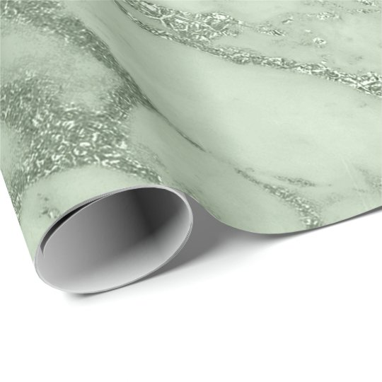 Mint Green Pastel Marble Stone Abstract Metal Lux