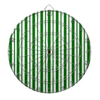 Mint Green Pinstripes Dartboard