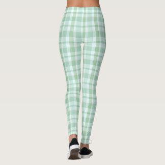 Mint Green Plaid Leggings