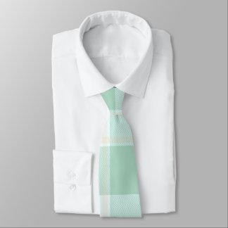 Mint Green Plaid Tie